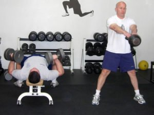 Kettlebell Swings and Chest Press